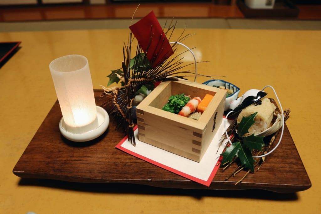 cena del ryokan Tensui