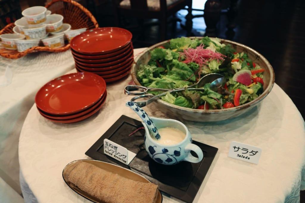 desayuno del ryokan Tensui