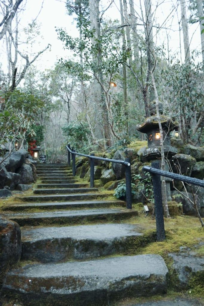 escaleras de aceso del ryokan