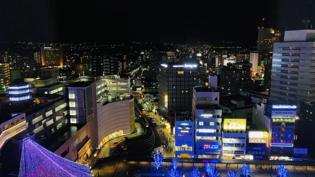 La noche en la ciudad de Oita