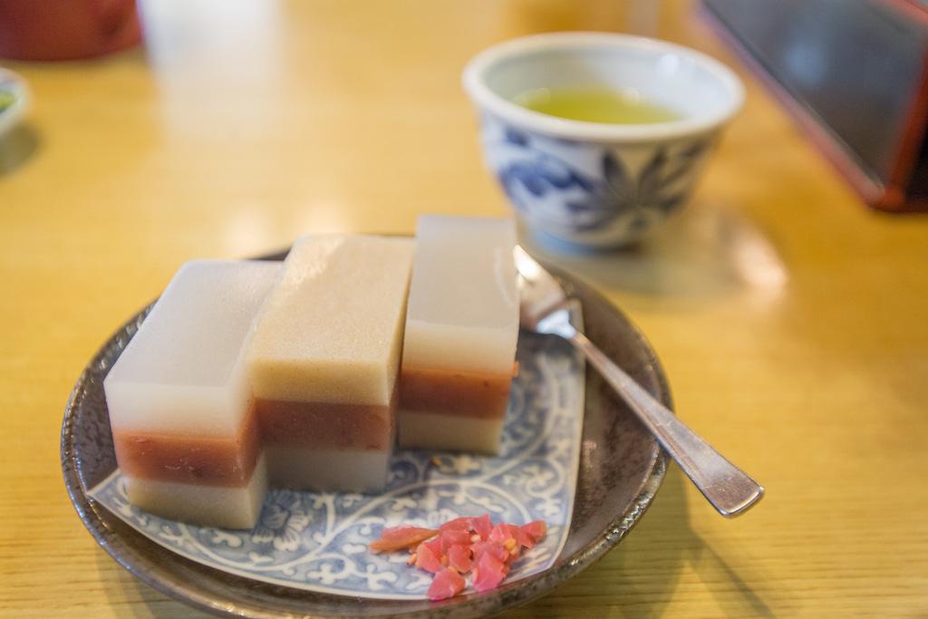 Dulce tradicional en el restaurante Yusui