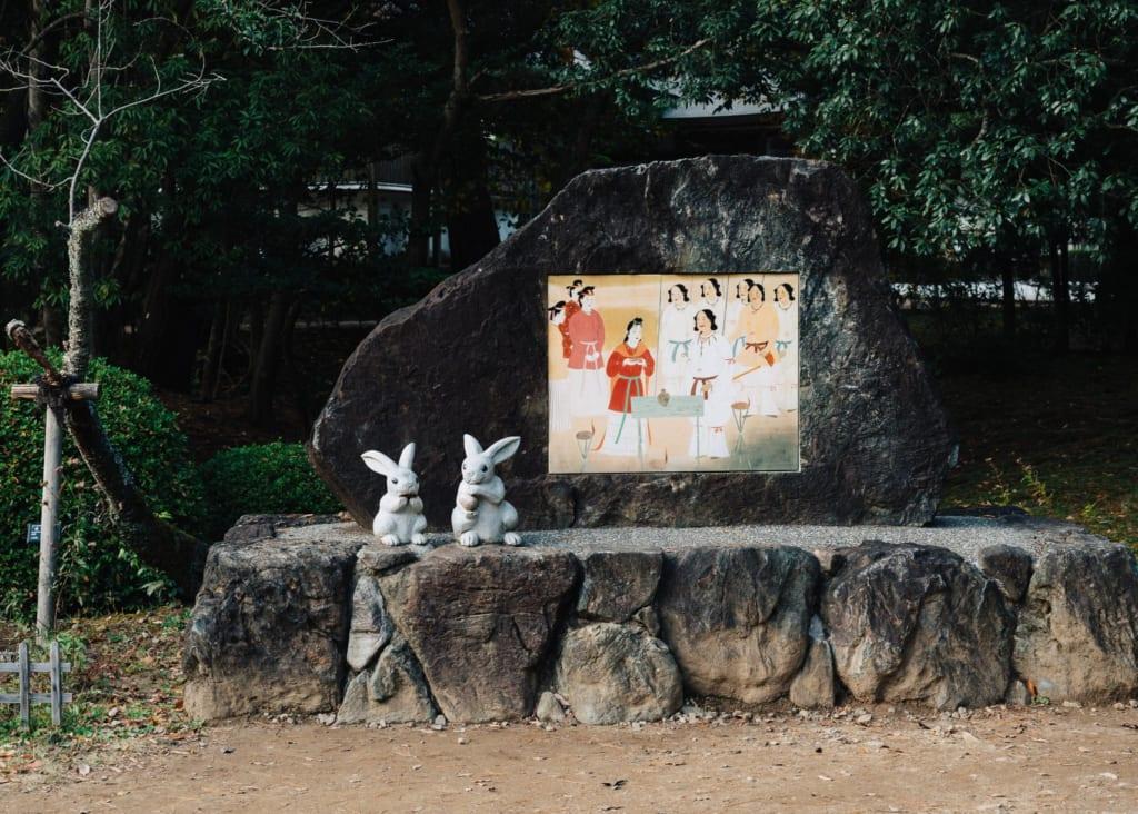 Figuras de conejos en el Izumi Taisha