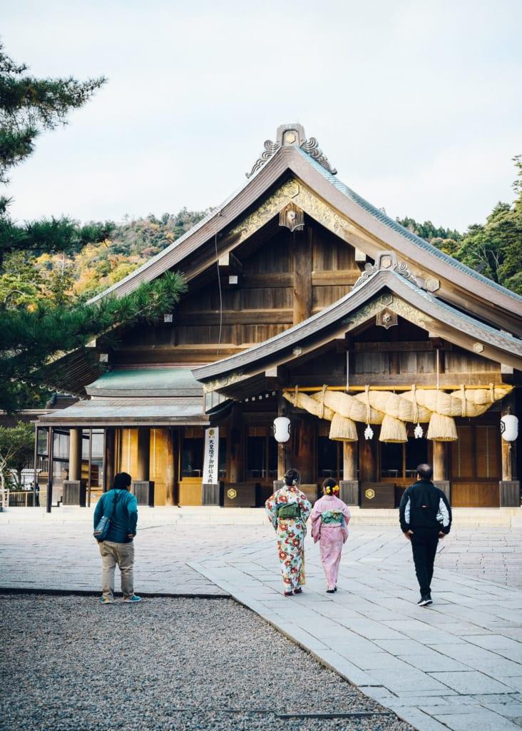 Parte principal del santuario Izumo Taisha