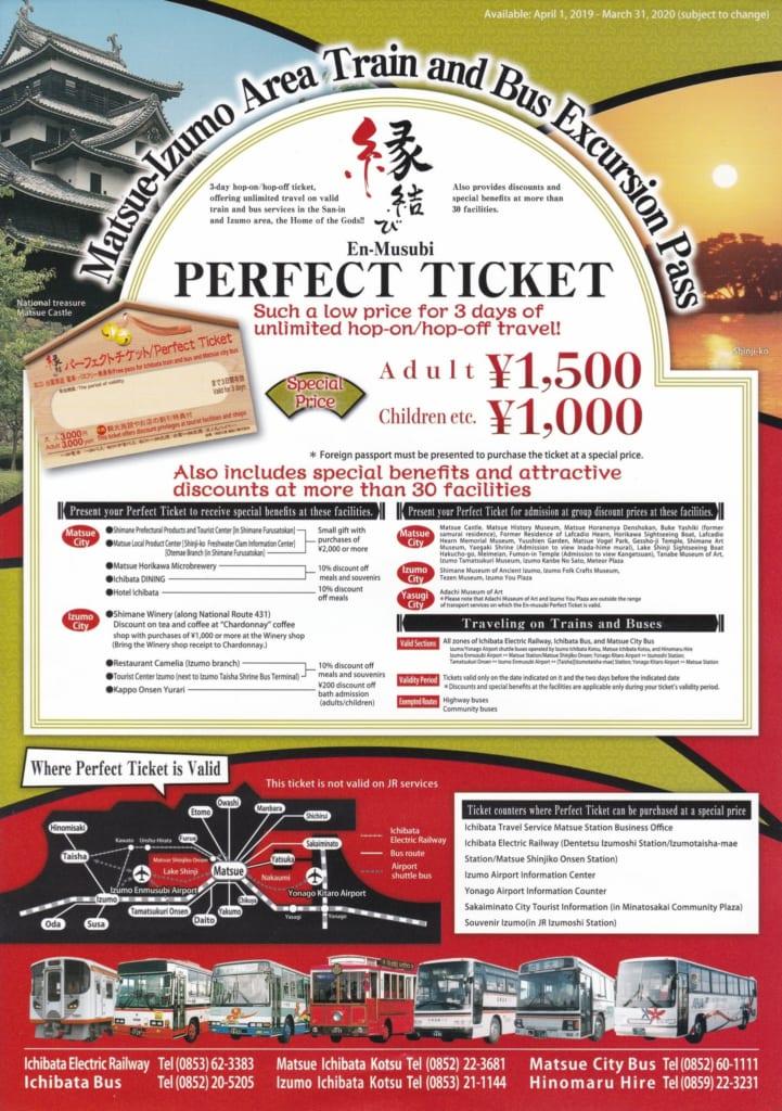 Panfleto del ticket de descuentos