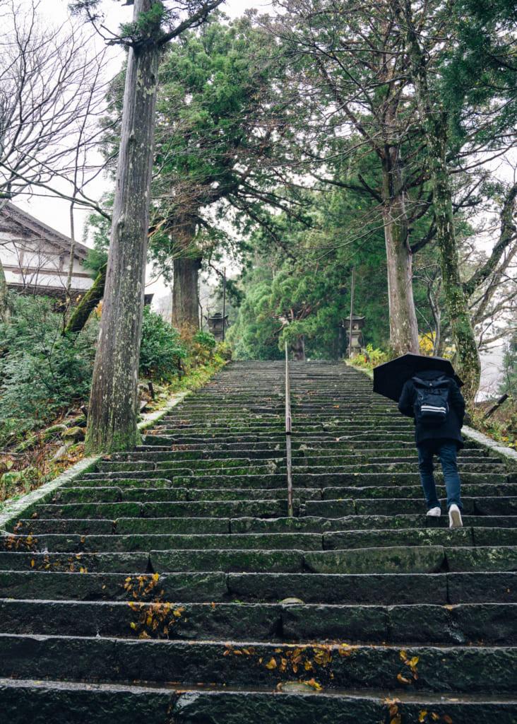 Escaleras del templo Daisenji