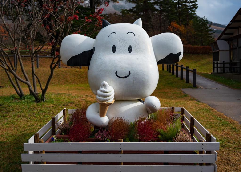 La mascota de Milk no Sato