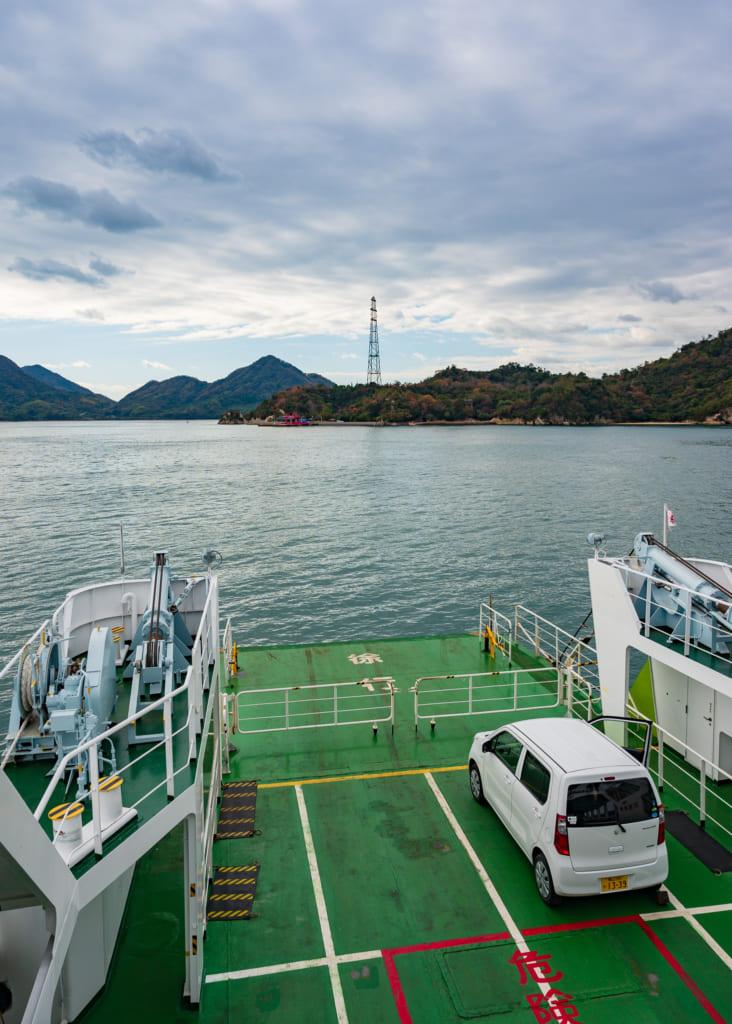 Vistas del viaje con ferry hasta la isla de los conejos