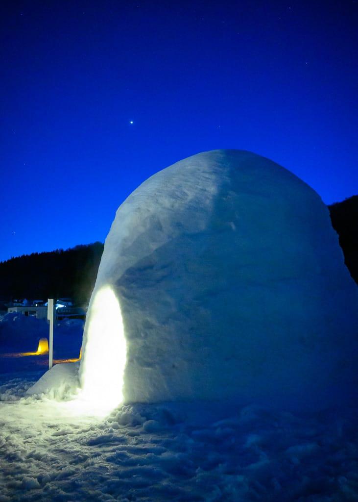 un iglú en iiyama