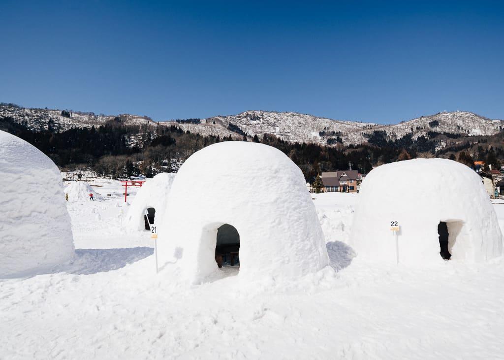 Ejemplo de iglú en el pueblo de Kamakura