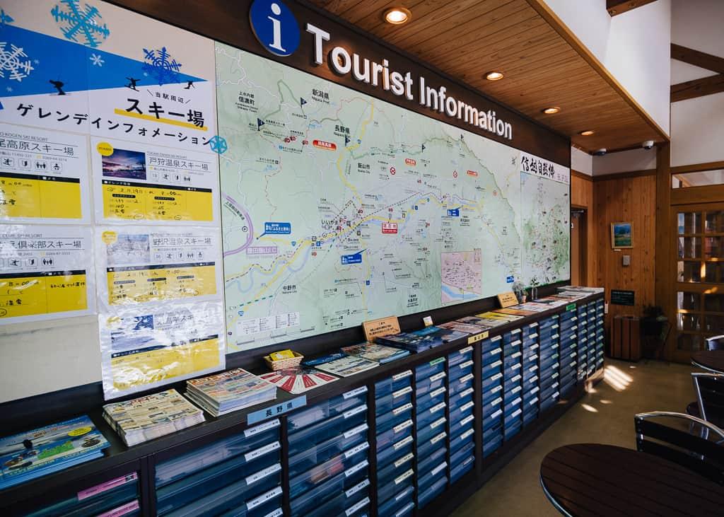 Sección de información turística