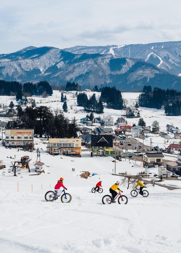 SLas vistas durante nuestra ruta de snow cycling