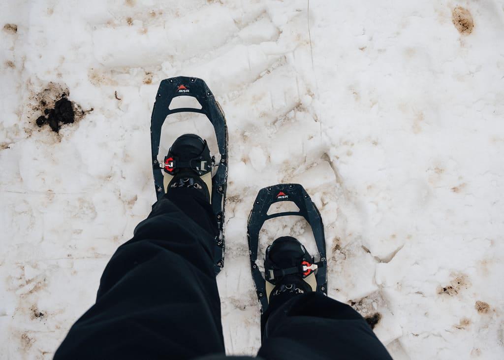 Andando con raquetas de nieve