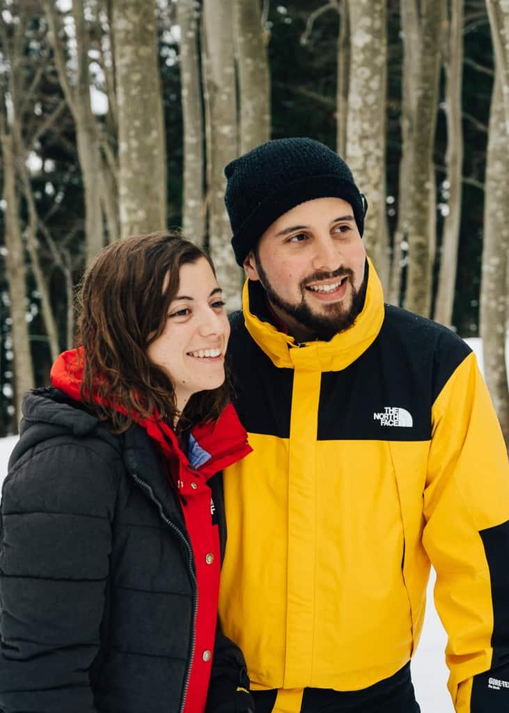 Maria y Hernán disfrutando del paseo