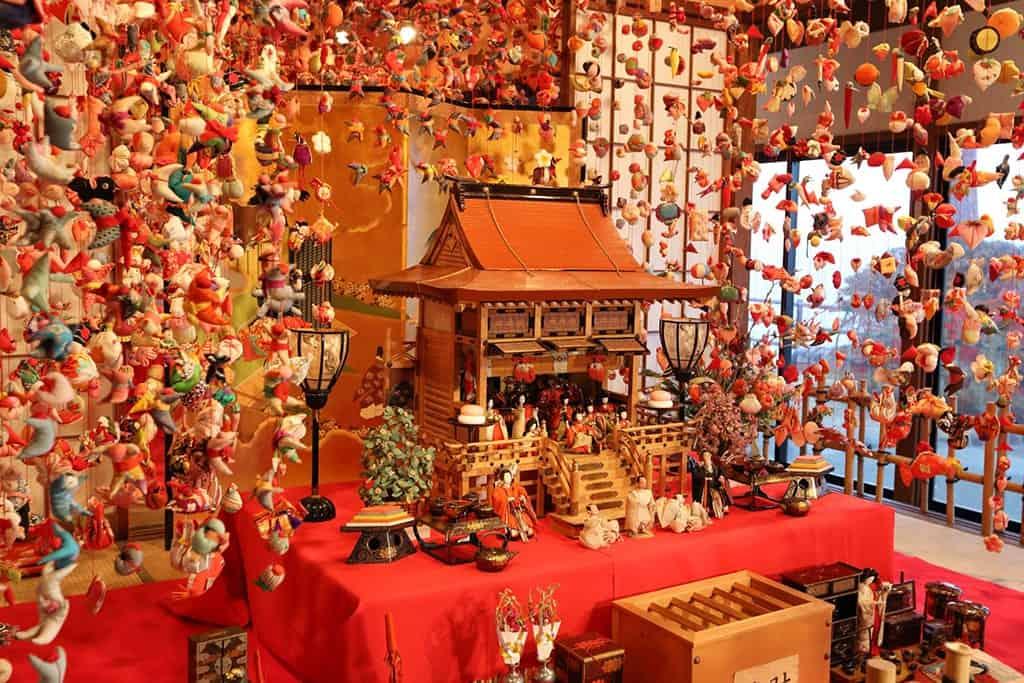 Gran decoración del Hina Matsuri