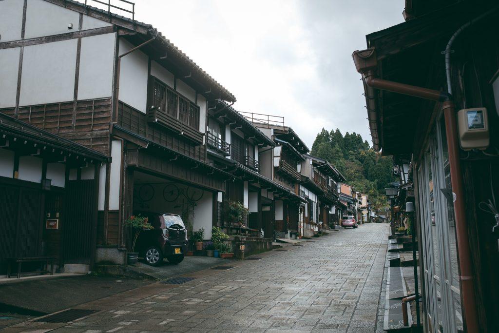 Calles tradicionales del pueblo de Yatsuo, Toyama.
