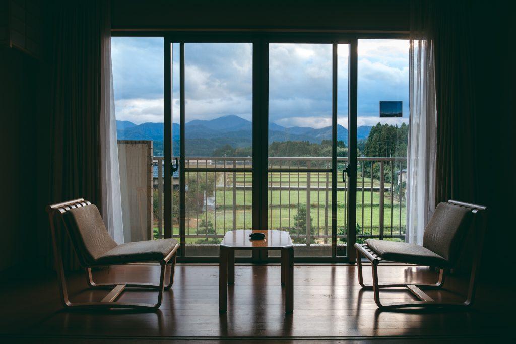 Vistas desde la habitación del Tsurugi Koizuki Ryokan.