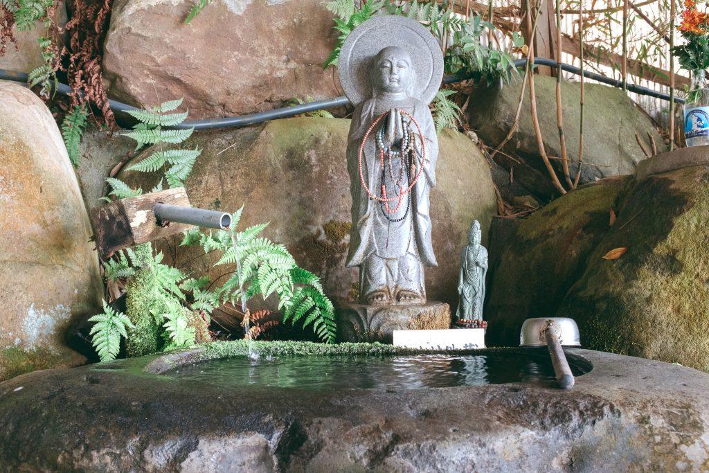 Agua pura y fresca de camino al Templo Nisseki, Toyama.
