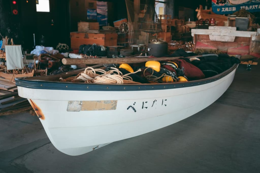 Display inside Himi City Fisheries Cultural Exchange Center