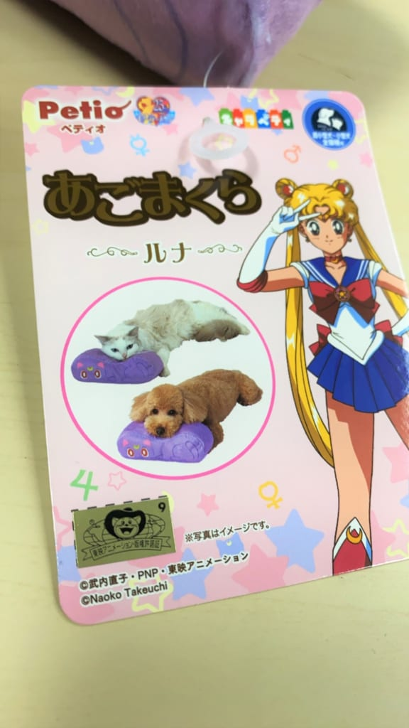 Etiqueta cojín Sailor Moon producto de HobbyLink Japan.