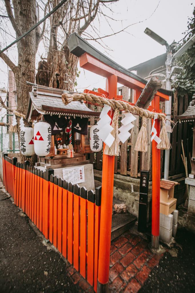 puertas torii en Nakazakicho