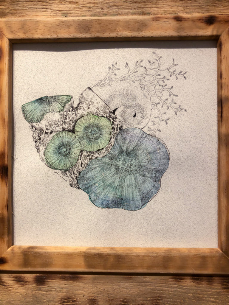 cuadro en galeria de arte en Nakazakicho