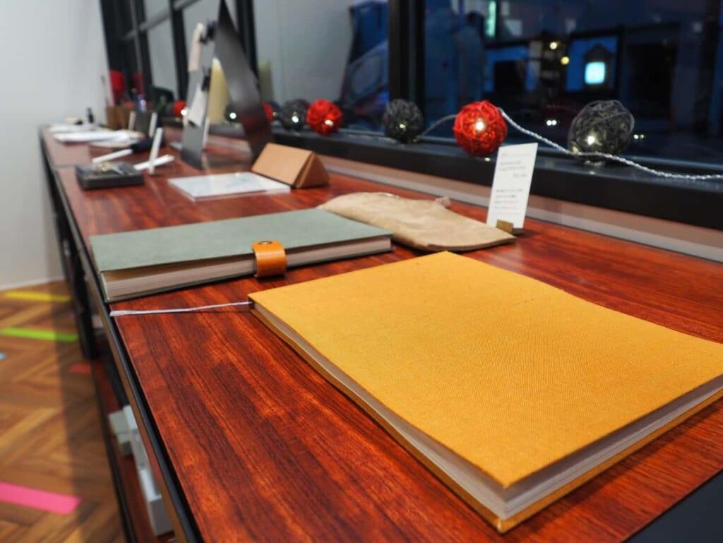 Cuadernos en la tienda