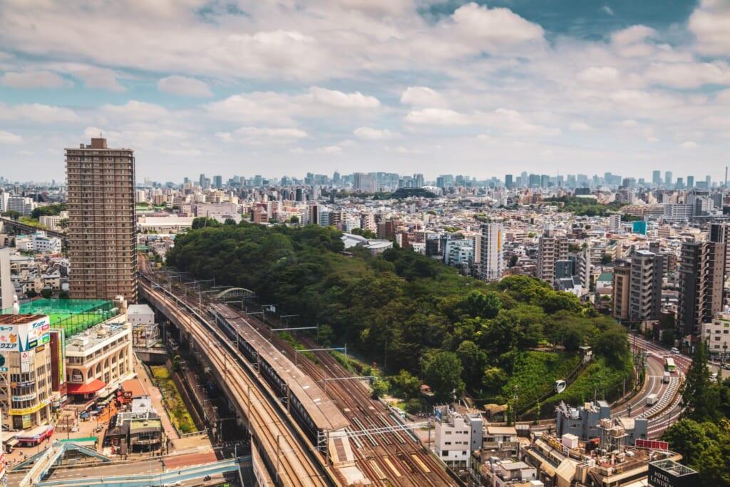 Vistas desde el piso número 17 del Hokutopia