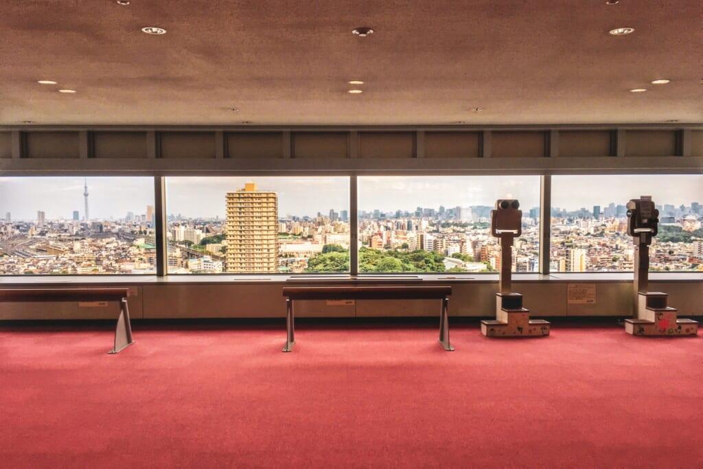 Mirador en el 17 piso de Hokutopia