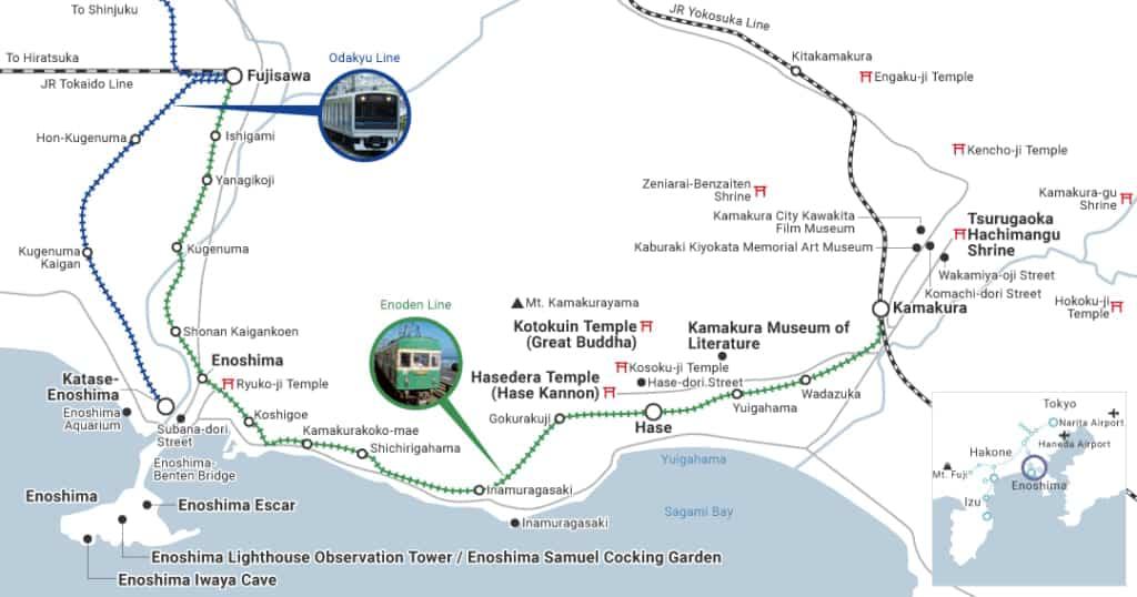 Cobertura del Enoshima-Kamakura Freepass, el pase de descuento