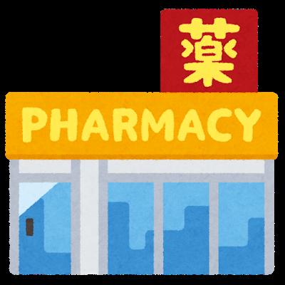Una farmacia japonesa con el kanji de medicina