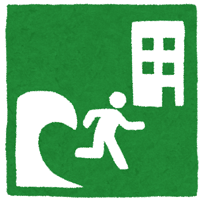 Cartel indicando una área de refugio