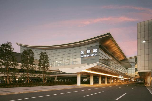 Exterior de Haneda, aeropuerto en Japón