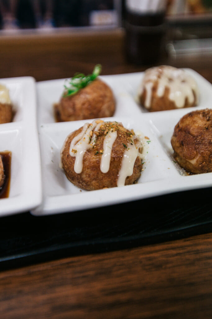 vista detalle de takoyaki