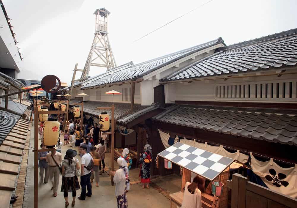 Reproducción a escala real de una calle de Osaka durante la era Edo