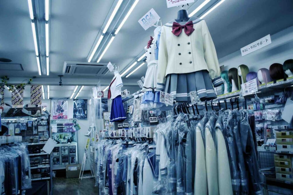 Tienda de cosplay en Den Den Town, Osaka