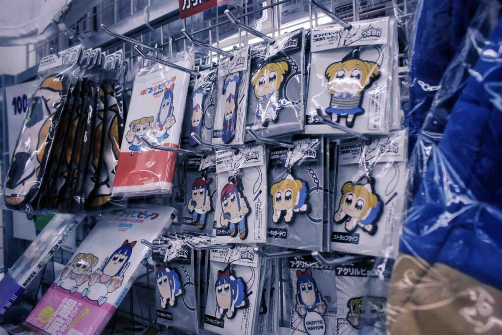 Merchandising de productos manga en Den Den Town