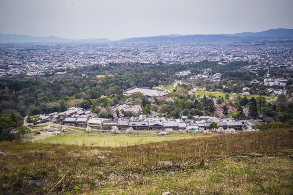 vistas de nara desde el monte wakakusa