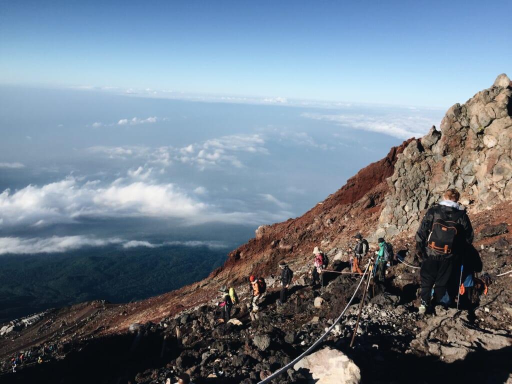 escalando el Monte Fuji