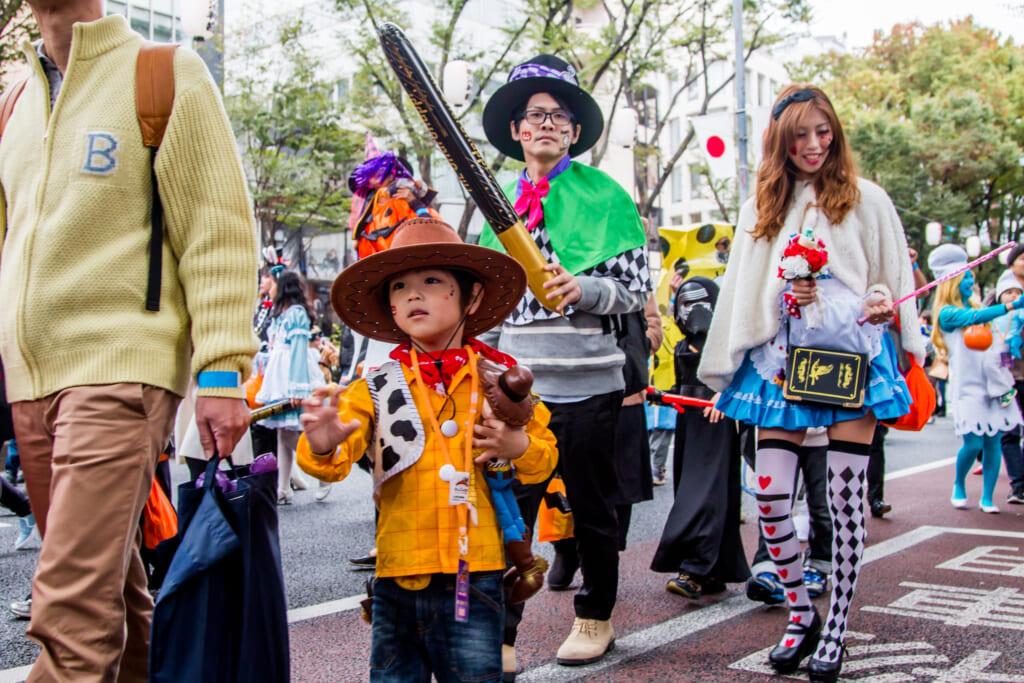 Halloween en Omotesando, Harajuku