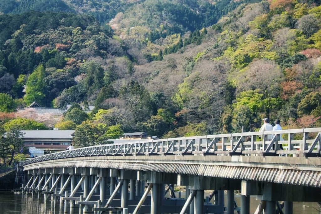 El puente Togetsu-kyō, en Arashiyama