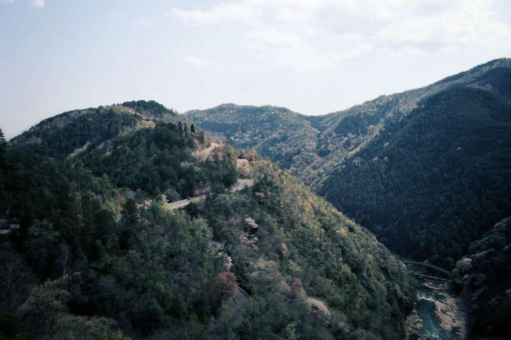 Vistas naturales desde el mirador Hozukyō