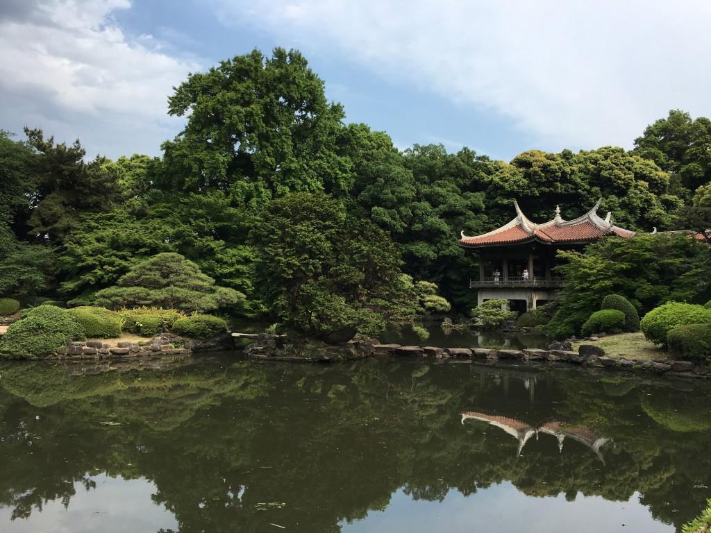 El parque de Shinjuku Gyoen, uno de los jardines japoneses en Tokio más famosos