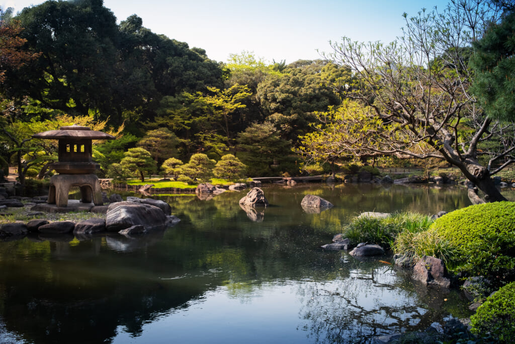 El jardín japonés en Tokio de Kyu Furukawa Teien