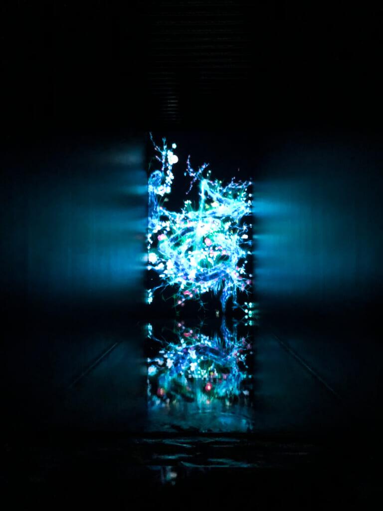 pantalla digital con formas y colores