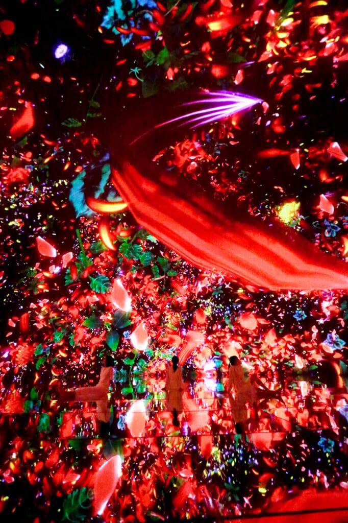 flores digitales de color rojo
