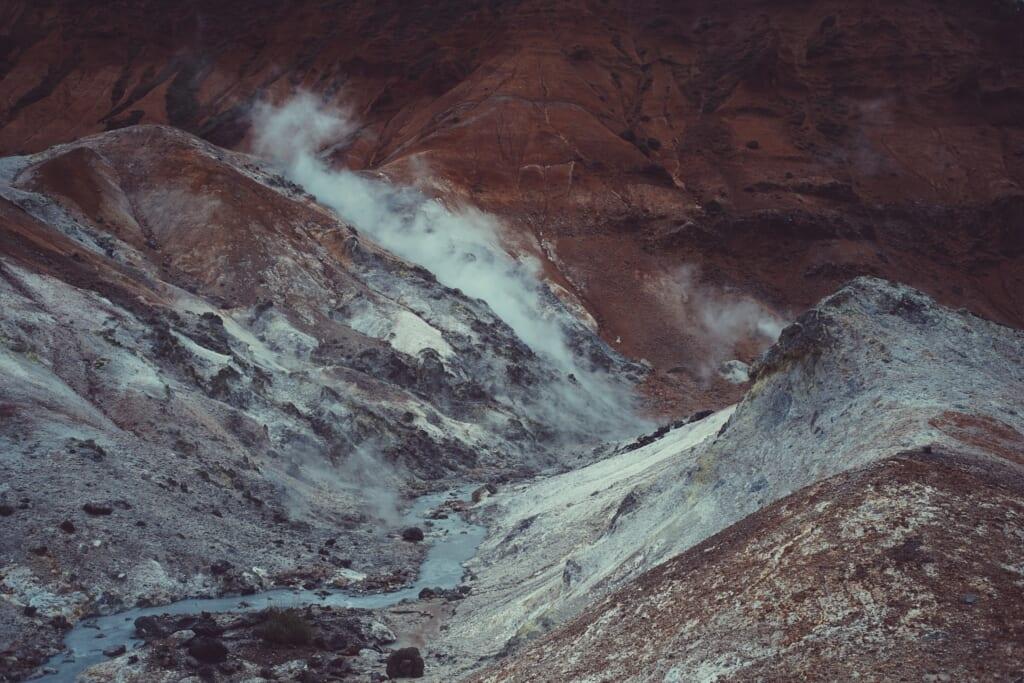 Los volcanes japoneses en japón pueden sacar vapor