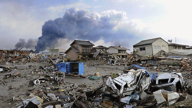 Escombros después del terremoto y tsunami del 2011