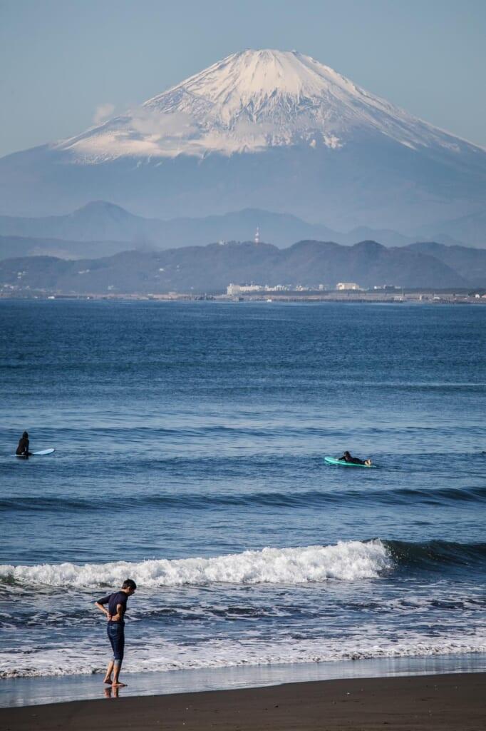 El Monte Fuji desde Enoshima