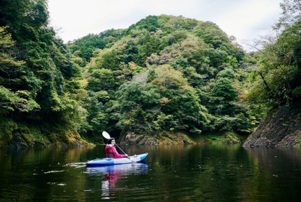 Un paisaje increíble durante la travesía en Kayak