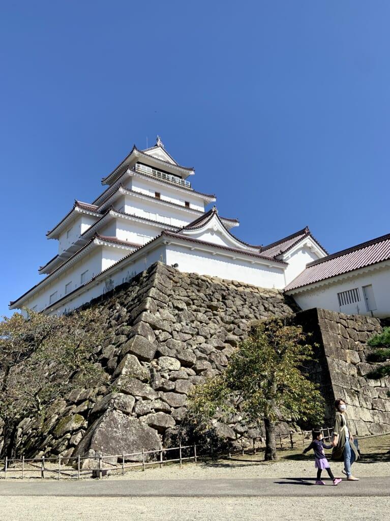Un castillo en la prefectura de Fukushima